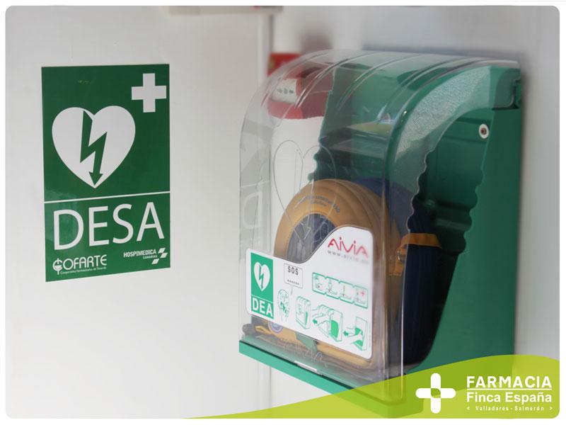 Desfibrilador DESA farmacia