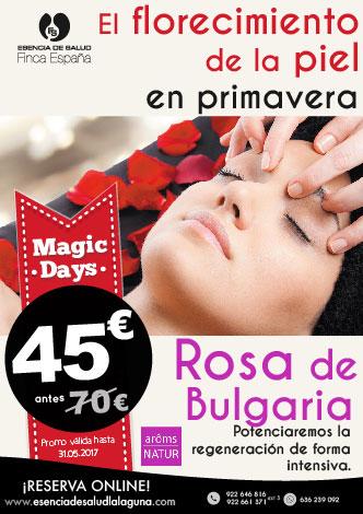 Promoción tratamiento facial regenerador Rosa de Bulgaria