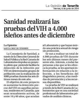 Farmacia Tenerife Red Canaria de Laboratorio prensa