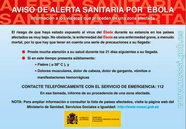 alerta sanitaria por ébola
