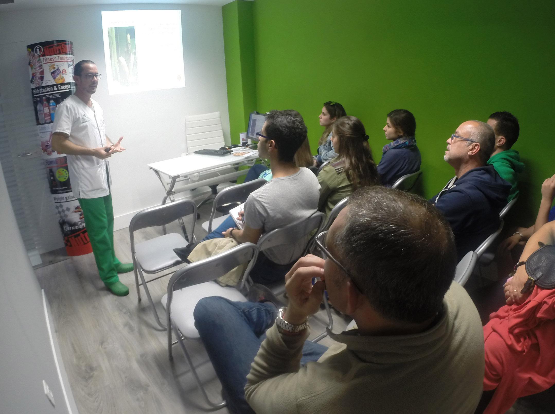Agustin Mesa en la charla diabetes y deporte