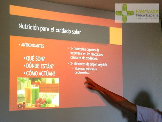 Taller zumos detox cuidado solar