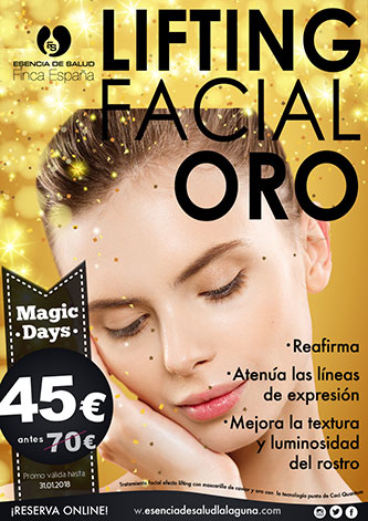 Descuento oferta Magic Days lifting facial oro