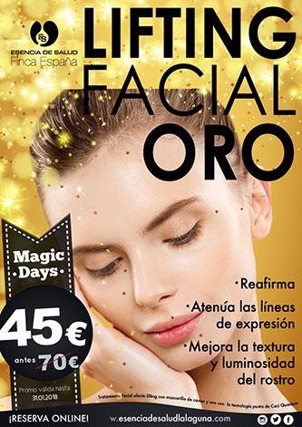 Descuento oferta Magic Days lifting facial oro