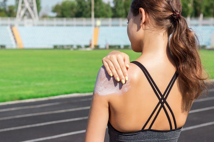 Crema solar para deportistas