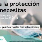 Mascarillas FFP2 guantes gel hidroalcoholico